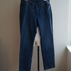 ANN TAYLOR curvy straight leg jeans
